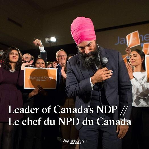 Sikh leider van derde partij Canada