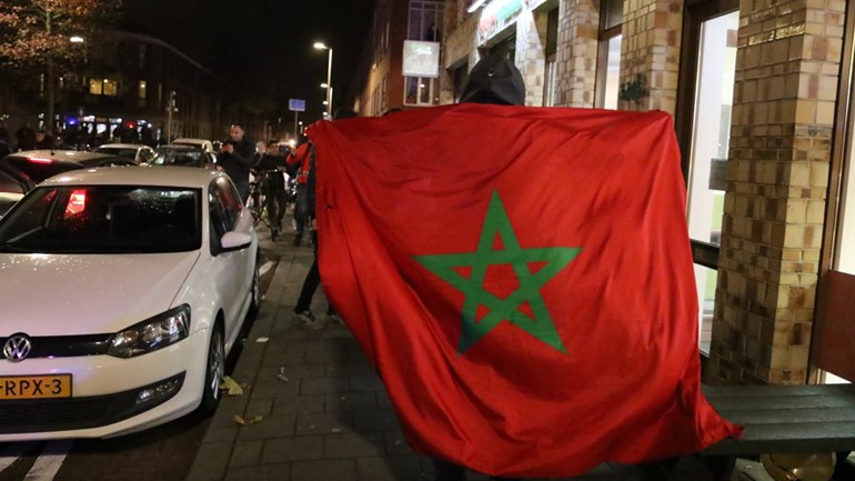 Marokkaanse Nederlanders vieren feest