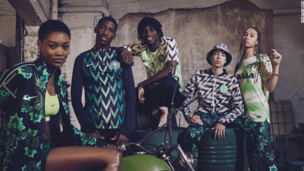 De winnaar van de '2018 FIFA World Cup Fashion Award': Nigeria
